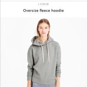 XS JCrew grey oversized fleece hoodie.  Awesome!